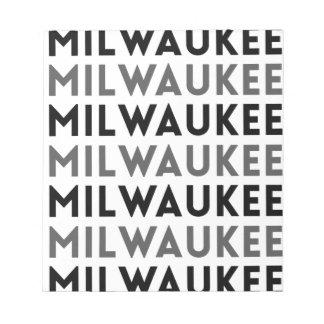 Diseño de la teja de Milwaukee Bloc De Notas