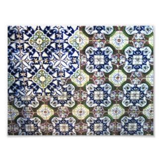 Diseño de la teja de Talavera del mexicano Impresion Fotografica