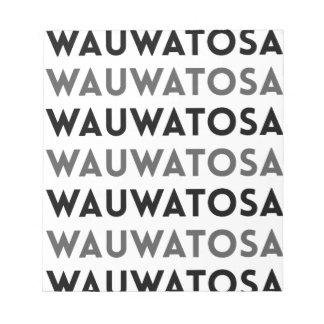 Diseño de la teja de Wauwatosa Wisconsin Bloc De Notas