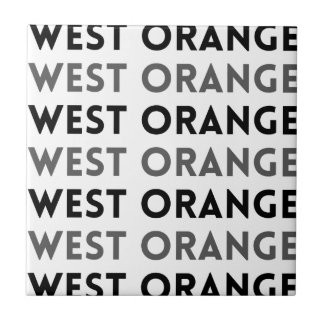 Diseño de la teja de West Orange New Jersey