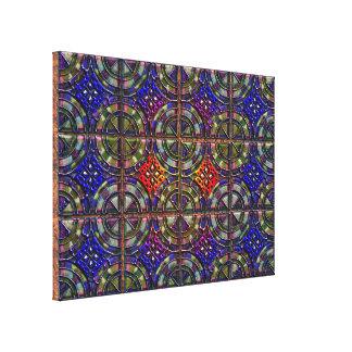 diseño de la teja del modelo de doce porciones impresión en lona