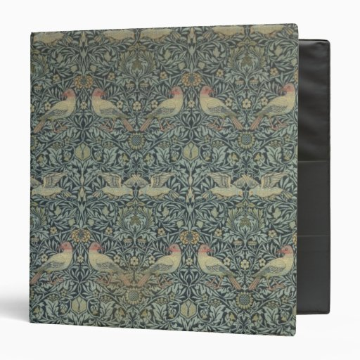 "Diseño de la tela de la paloma y de Rose, c.1879 Carpeta 1 1/2"""