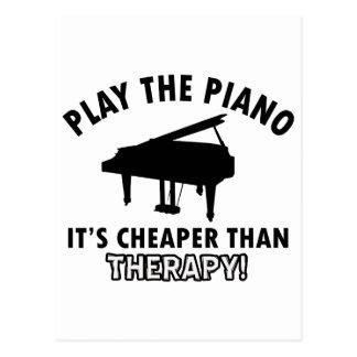 diseño de la terapia del piano tarjeta postal
