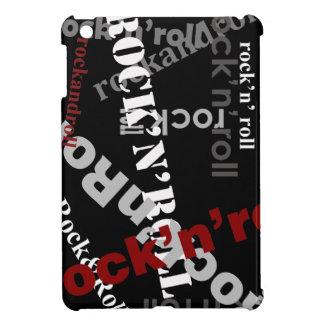diseño de la tipografía de la roca y del rollo iPad mini protector