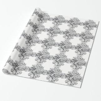 Diseño de la tipografía de la voluta del vintage papel de regalo