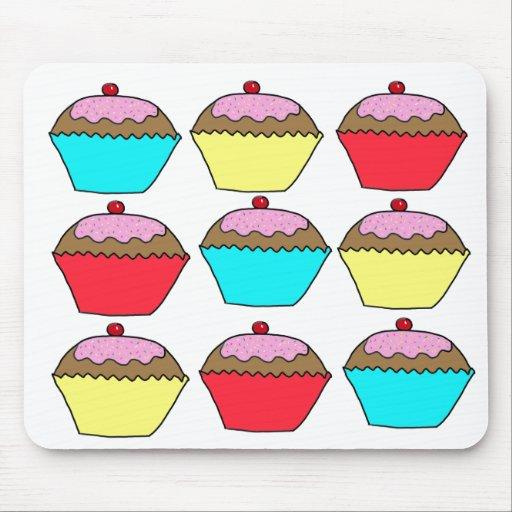 Diseño de la torta de la taza alfombrillas de ratones