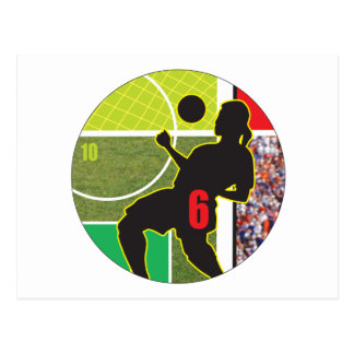 Diseño de la trampa del pecho del fútbol tarjeta postal