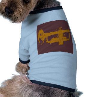 Diseño de la trompeta ropa perro