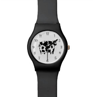 Diseño de la vaca del país reloj de mano