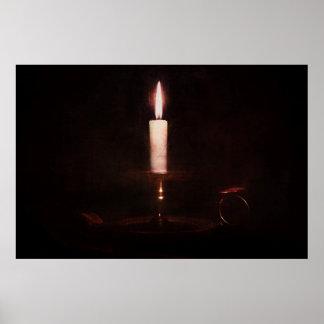 Diseño de la vela de la luz suave impresiones