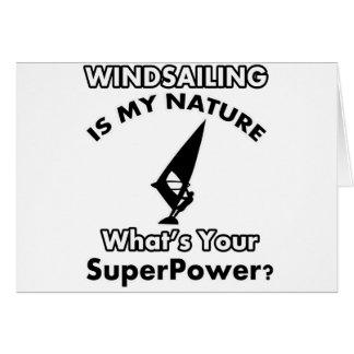 diseño de la vela de viento tarjeta de felicitación