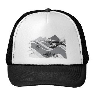 Diseño de la vida del campo gorras
