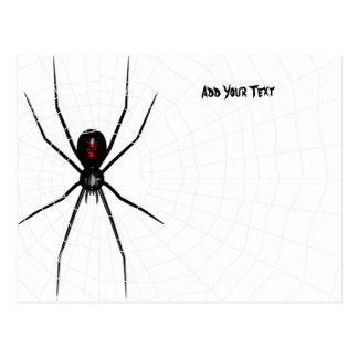 Diseño de la viuda negra postales