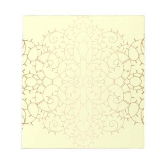 Diseño de la voluta del cordón del vintage del oro blocs de notas