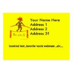 Diseño de la yoga de la balanza… plantillas de tarjetas de visita