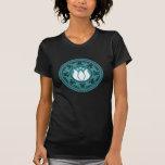 Diseño de la yoga de OM del color de la mandala 2  Camisetas