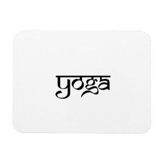Diseño de la yoga en estilo sánscrito imán rectangular
