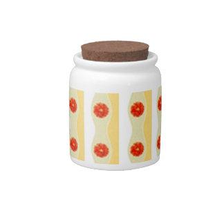Diseño de lámina de las flores Modelo de Jarras Para Caramelos