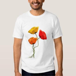 Diseño de las amapolas camisas