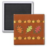 Diseño de las bellotas de las hojas de otoño de la imanes para frigoríficos