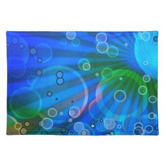 Diseño de las burbujas mantel individual