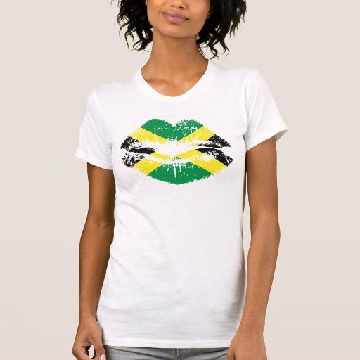 Diseño de las camisetas sin mangas de los labios d