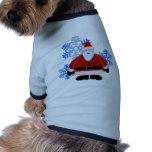 Diseño de las escamas de la nieve de Santa Camisetas De Perrito