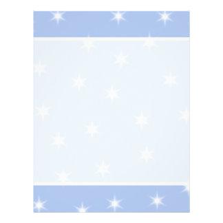Diseño de las estrellas blancas y azules flyer a todo color