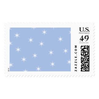 Diseño de las estrellas blancas y azules sello