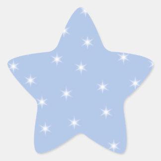 Diseño de las estrellas blancas y azules calcomanias forma de estrella