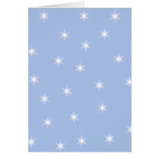 Diseño de las estrellas blancas y azules felicitación