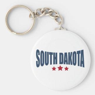 Diseño de las estrellas de Dakota del Sur tres Llaveros
