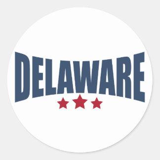 Diseño de las estrellas de Delaware tres Pegatinas Redondas
