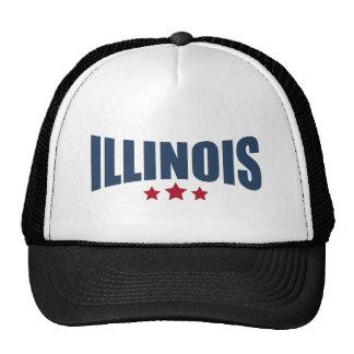 Diseño de las estrellas de Illinois tres Gorros