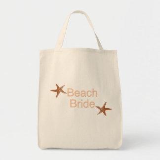Diseño de las estrellas de mar de la novia de la p bolsa