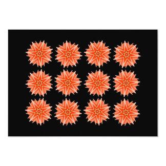 """Diseño de las estrellas de mar del coral rojo, invitación 5"""" x 7"""""""