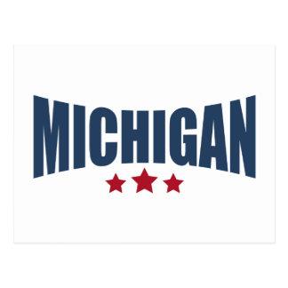 Diseño de las estrellas de Michigan tres Postales