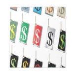 Diseño de las etiquetas de la muestra del dinero bloc