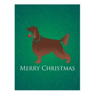 Diseño de las Felices Navidad del perro de Irish Postales