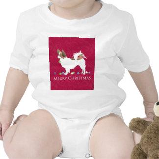 Diseño de las Felices Navidad del perro de Traje De Bebé