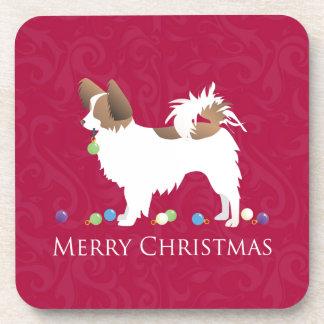 Diseño de las Felices Navidad del perro de Posavasos