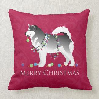 Diseño de las Felices Navidad del perro del Almohada