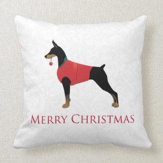Diseño de las Felices Navidad del perro del Cojín