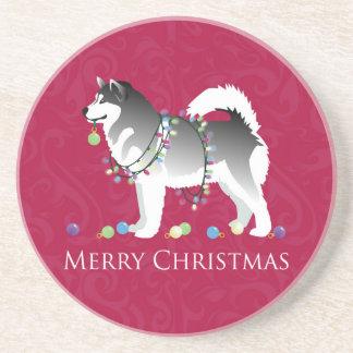 Diseño de las Felices Navidad del perro del Posavasos Manualidades
