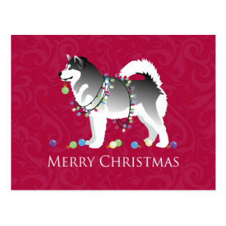 Diseño de las Felices Navidad del perro del Postal