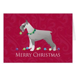 Diseño de las Felices Navidad del Schnauzer Tarjeta De Felicitación