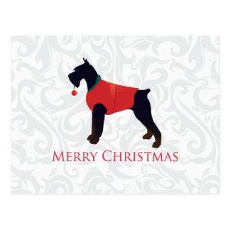 Diseño de las Felices Navidad del Schnauzer Postal