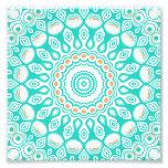 Diseño de las flores del caleidoscopio de la turqu