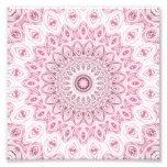 Diseño de las flores del caleidoscopio en rosa y fotografías