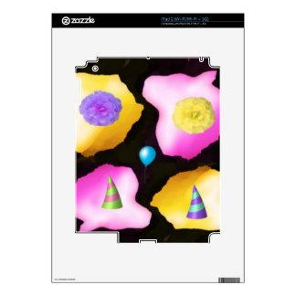 Diseño de las flores del feliz cumpleaños calcomanía para el iPad 2